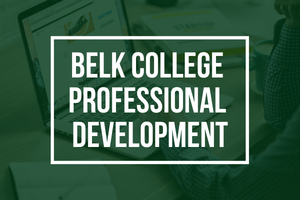 Belk College Professional Development