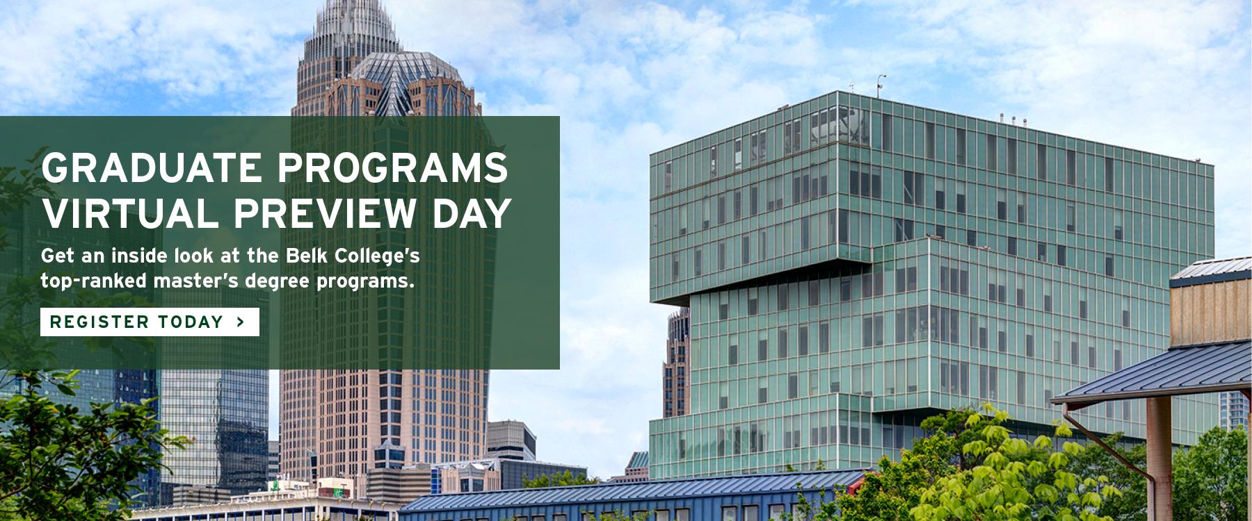 Graduate Programs Virtual Preview Days