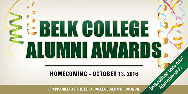 Belk College alumni awards graphic
