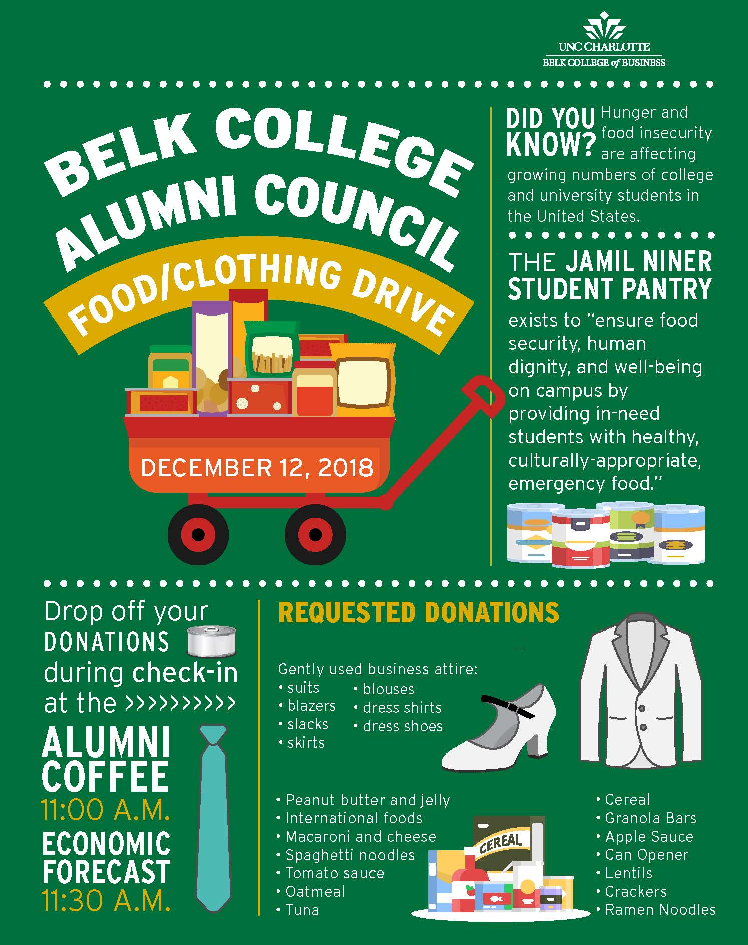 Alumni Council Food/Clothing Drive - Jamil Niner Student