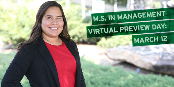 M.S. in Management Virtual Preview Day: March 12