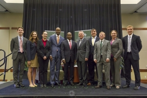 Roger Ferguson with Business Honors Program students at the CEO Speaker Series