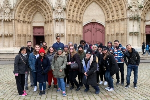 Graduate students study abroad