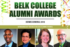2018 Belk College Alumni Awards graphic