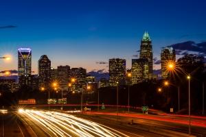 Uptown Charlotte at Night