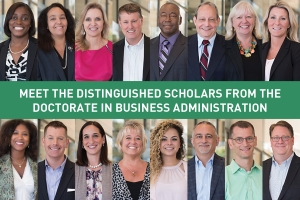 The UNC Charlotte Belk College of Business Presents the Distinguished Scholars of the Doctorate in Business Administration Program