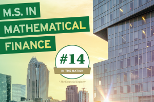 UNC Charlotte's M.S. in Mathematical Finance Rises to #14 Ranking