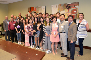 International Reception Welcomes Global Graduate Students as New 49ers