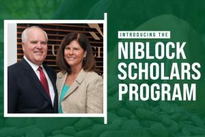 $2.5 million Gift Establishes Niblock Scholars Program