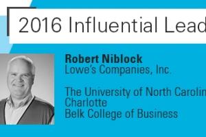 AACSB Honors UNC Charlotte Belk College of Business Alumnus, Lowe's CEO Robert A. Niblock