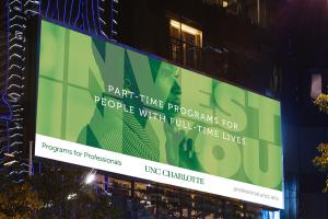 UNC Charlotte Launches Programs for Professionals Campaign