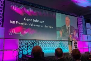 Johnson receives regional CASE award for volunteerism